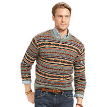 Buy Polo Ralph Lauren Fair Isle Crew Neck Jumper, Lovat Fairisle Online at johnlewis.com