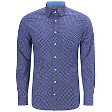 Buy Hackett London Two Tone Floral Print Shirt, Indigo Online at johnlewis.com
