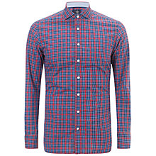 Buy Hackett London Check Shirt, Red/Blue Online at johnlewis.com