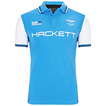 Buy Hackett London Aston Martin Racing Polo Shirt, Bright Blue Online at johnlewis.com