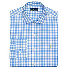 Buy Polo Golf by Ralph Lauren Classic Check Oxford Shirt, Harbour/White Online at johnlewis.com