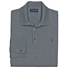 Buy Polo Golf by Ralph Lauren Long Sleeved Polo Shirt, Everest Heather Online at johnlewis.com