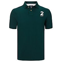 Buy Hackett London Number 2 Short Sleeve Polo Shirt, Dark Green Online at johnlewis.com