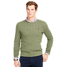 Buy Polo Ralph Lauren Tussah Silk Cable Knit Jumper Online at johnlewis.com