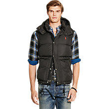 Buy Polo Ralph Lauren Elmwood Down Gilet, Polo Black Online at johnlewis.com