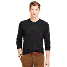 Buy Polo Ralph Lauren Merino Jumper, Onyx Heather Online at johnlewis.com