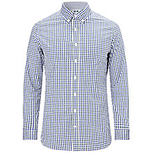 Buy Hackett London Gingham Two Tone Shirt, Green/Blue Online at johnlewis.com