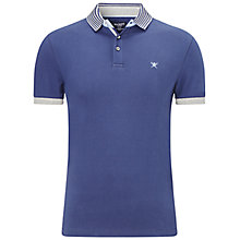 Buy Hackett London Striped Collar Polo Shirt, Navy Online at johnlewis.com