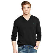Buy Polo Ralph Lauren Merino Wool V-Neck Jumper Online at johnlewis.com