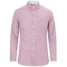 Buy Hackett London Mini Check Print Shirt, Red/Blue Online at johnlewis.com