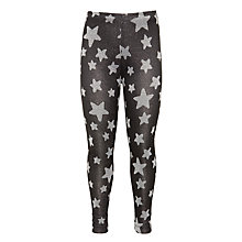 Buy John Lewis Girl Star Print Leggings, Black Online at johnlewis.com
