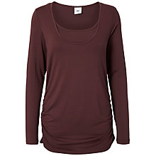 Buy Mamalicious Tico Nell Maternity Long Sleeved Top, Pack of 2, Fudge Online at johnlewis.com