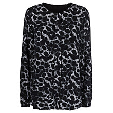 Buy Mamalicious Leo Lia Long Sleeve Maternity Top, Black Online at johnlewis.com