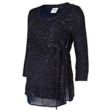 Buy Mamalicious Janice Sequin Knit Maternity Top, Navy Online at johnlewis.com