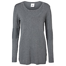 Buy Mamalicious Jamilia Maternity Nursing Knit Top, Grey Melange Online at johnlewis.com
