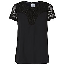 Buy Mamalicious Susan Lace Maternity Nursing Top, Black Online at johnlewis.com
