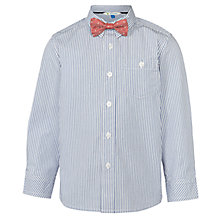 Buy John Lewis Boys' Stripe Shirt With Bow Tie, Blue Online at johnlewis.com