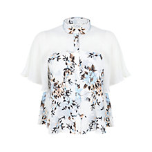 Buy Miss Selfridge Abstract Print Blouse, Multi Online at johnlewis.com