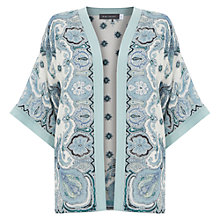 Buy Mint Velvet Avril Print Silk Kimono, Multi Online at johnlewis.com