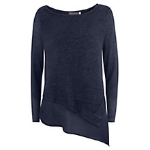 Buy Mint Velvet Asymmetric Linen Jumper, Navy Online at johnlewis.com
