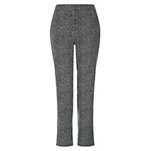 Buy Hobbs Renee Trousers, Black/Ivory Online at johnlewis.com