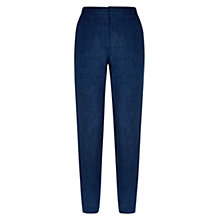 Buy Hobbs Carie Linen Trousers, Endless Blue Online at johnlewis.com