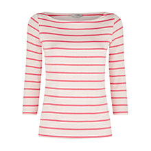 Buy Hobbs Emily Top, Pink Geranium Online at johnlewis.com