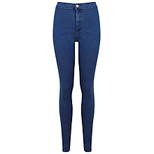 Buy Miss Selfridge Super High-waist Jeans, Mid Wash Denim Online at johnlewis.com