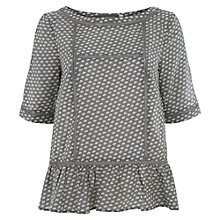 Buy Mint Velvet Lisa Print Peplum Top, Multi Online at johnlewis.com