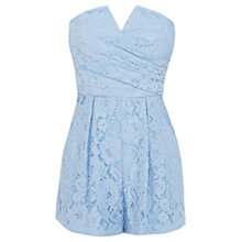 Buy Coast Kandis Playsuit, Sky Blue Online at johnlewis.com