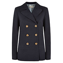 Buy Hobbs Estella Textured Jacket, Navy Online at johnlewis.com
