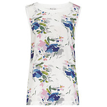 Buy Reiss Silk Front Gigi Print Tank Top, White Online at johnlewis.com