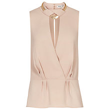 Buy Reiss Grace Chain Detail Top, Neutral Online at johnlewis.com