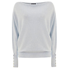 Buy Mint Velvet Cowl Neck Batwing Jumper, Cool Sky Online at johnlewis.com