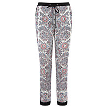 Buy Oasis Paisley Soft Print Trousers, Multi Online at johnlewis.com