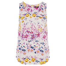 Buy Oasis Blissful Blooms Vest Top, Multi Natural Online at johnlewis.com