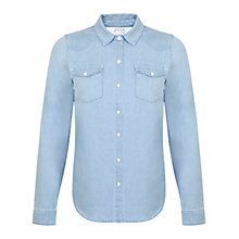 Buy Miss Selfridge Denim Shirt, Mid Wash Online at johnlewis.com