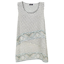 Buy Mint Velvet Demi Print Tiered Vest Top, Metallic Online at johnlewis.com