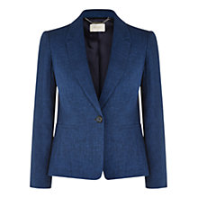 Buy Hobbs Carie Linen Jacket, Endless Blue Online at johnlewis.com