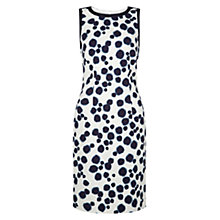 Buy Hobbs Ink Spot Shift Dress, Neutral Ink Online at johnlewis.com