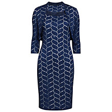 Buy Gina Bacconi Leaf Design Dress And Jacket, Navy Online at johnlewis.com