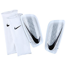 Buy Nike Adult Mercurial Lite Shin Pads, White/Black Online at johnlewis.com