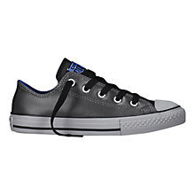 Buy Converse CTAS Lo Leather Mix Trainers, Black Online at johnlewis.com