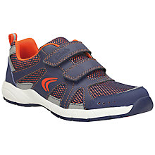 Buy Clarks Cross Zoom Rip-Tape Trainers, Blue/Orange Online at johnlewis.com