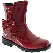 Buy Lelli Kelly Pollie Patent Leather Boots, Red Online at johnlewis.com