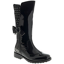 Buy Lelli Kelly Portia Patent Leather Boots, Black Online at johnlewis.com