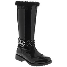 Buy Lelli Kelly Bella Patent Leather Knee High Boots, Black Online at johnlewis.com