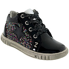 Buy Lelli Kelly Char Leather School Shoes, Black/Multi Online at johnlewis.com