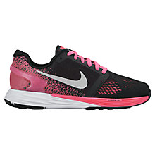 Buy Nike LunarGlide Trainers, Black/Pink Online at johnlewis.com