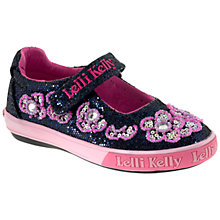 Buy Lelli Kelly Glory MJ Glitter Shoes, Navy/Pink Online at johnlewis.com